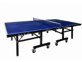 Профессиональный теннисный стол, толщина 25 мм, колеса 100 мм с сеткой